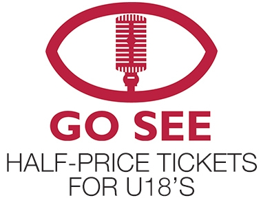 GO SEE - 1/2 price tickets for u18s to music gigs