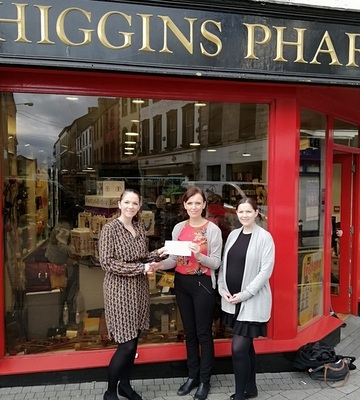 Thank you to Deirdre and Ann Butler from Higgins Pharmacy for donation to Renovation fund
